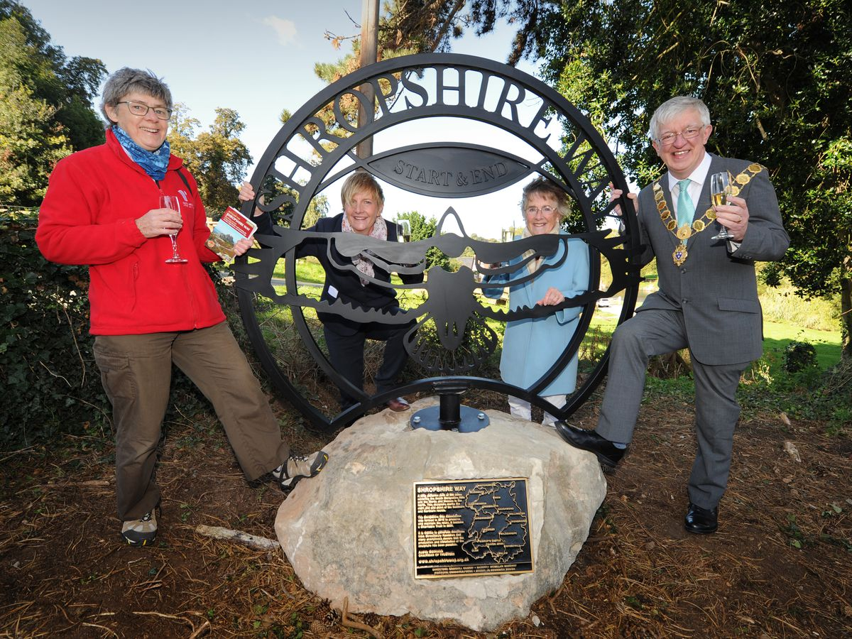 At last year's Shropshire Way Festival, a buzzard sculpture was unveiled to mark the start of the route at Kingsland Bridge in Shrewsbury