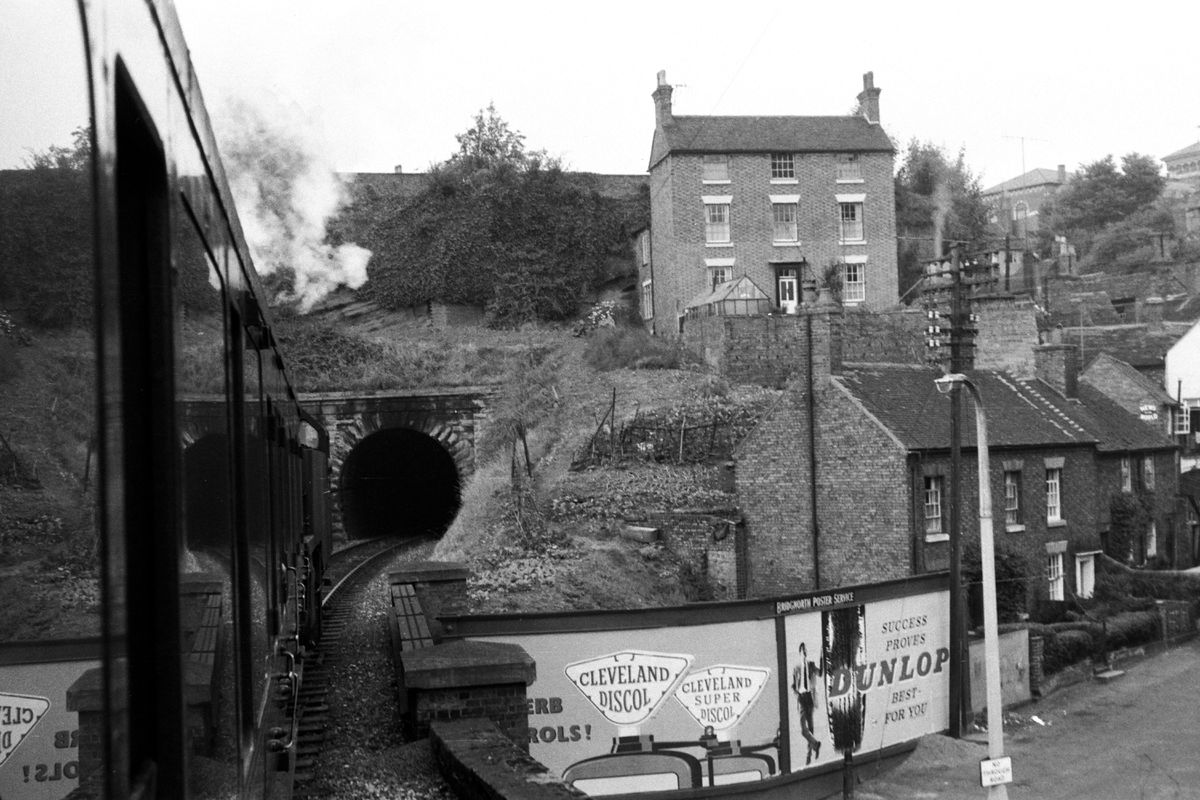 Approaching the tunnel under Bridgnorth on the Severn Valley service to Shrewsbury.