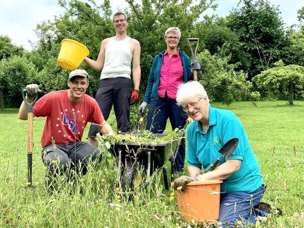 From left are volunteers Andy Harman, Alex Collier, Carola Adams and Jude Pilgrim.