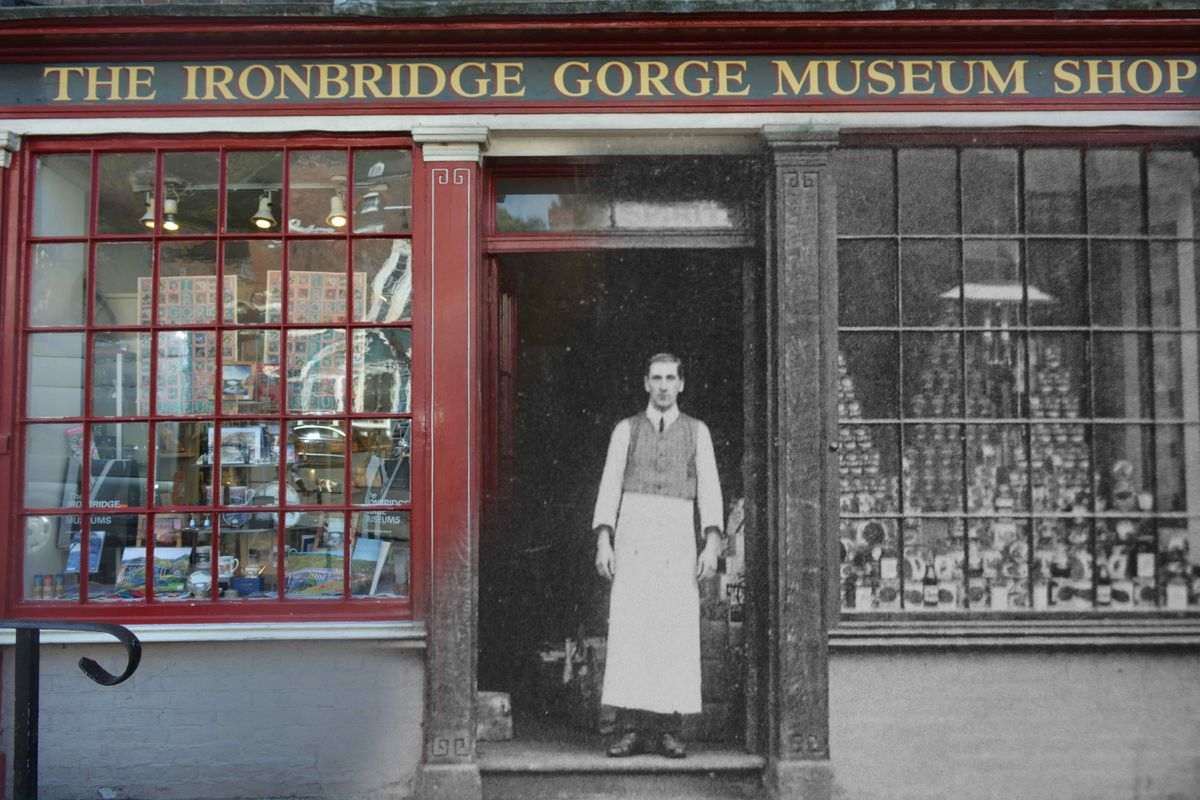 Charlotte's picture shows the former proprietor of what is now the Ironbridge Gorge Museum shop High Street.