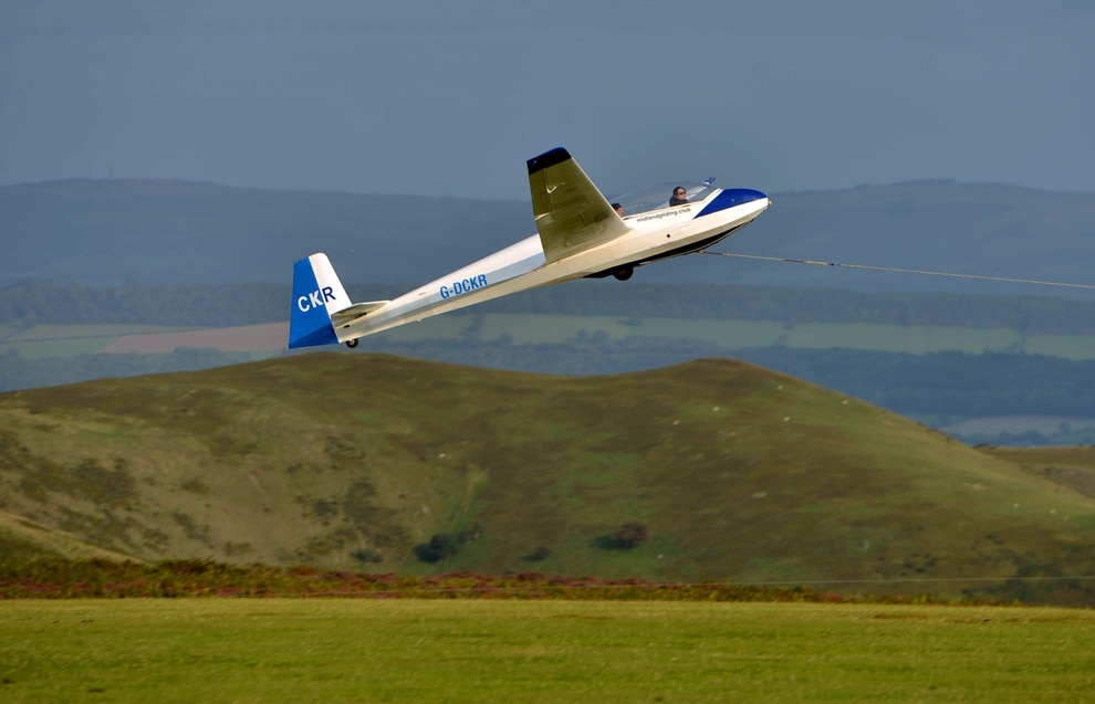 Flying high: Shropshire schoolgirl Holly is a glider pilot at just