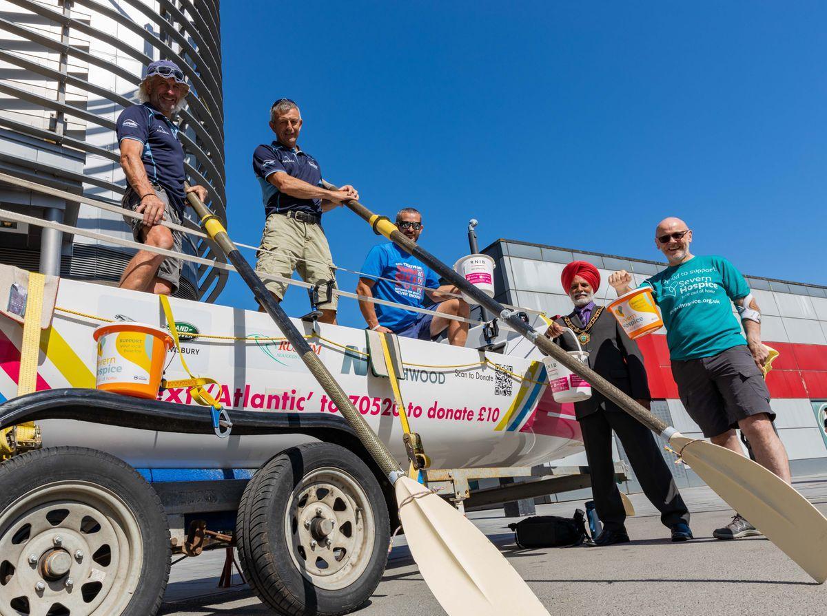 Telford Mayor Amrik Jhawar with the Wrekin Rowers