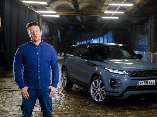 Jamie Oliver gets a flavour of the new Range Rover Evoque