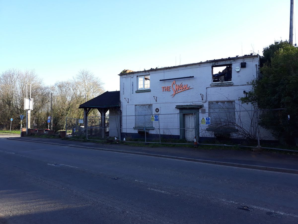 The Swan, Waters Upton, closed in 2007 and was badly damaged by fire in 2015.
