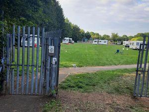 Travellers at Dark Lane Park in Shrewsbury. Photo: Christopher Geisler