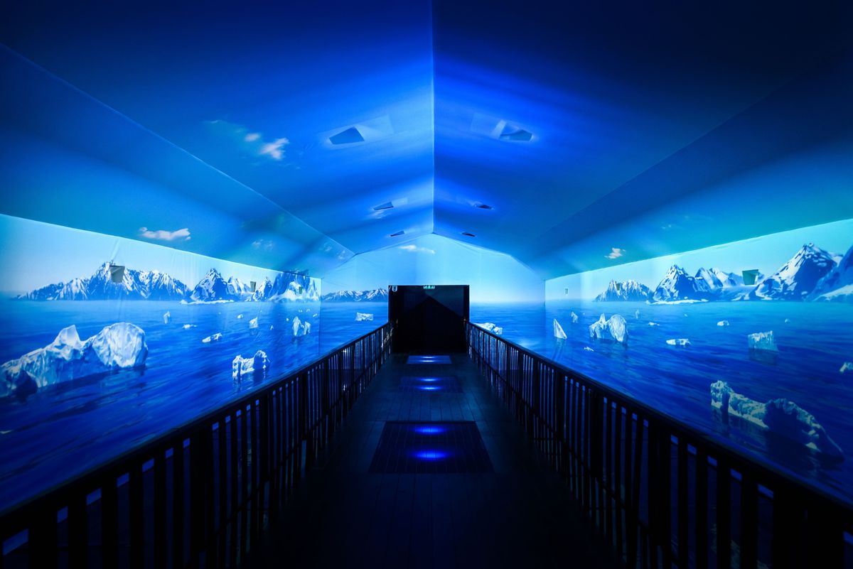 Shared VR tunnel for the 2016 London Boat Show