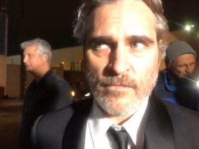 Joaquin Phoenix attends pig vigil at slaughterhouse after picking up SAG award