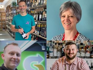 New Shrewsbury BID directors Robin Nugent, Catherine Armstrong, Darren Tomkins and Mike Gries