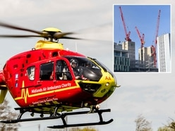 Midlands air ambulances unable to land at children's hospital because of cranes