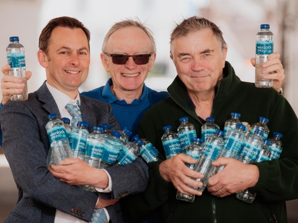 Runners and walkers showing bottle before Bridgnorth event