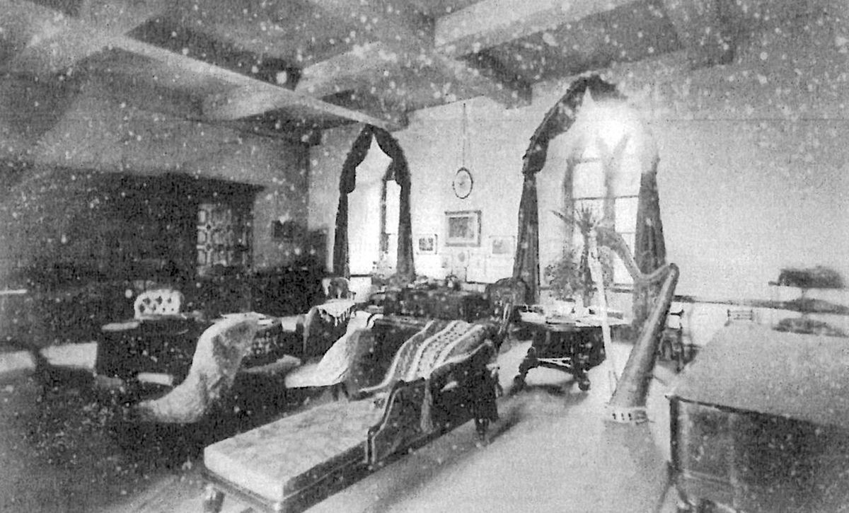 The drawing room of Shrewsbury Castle in about 1890. Picture: David Trumper.