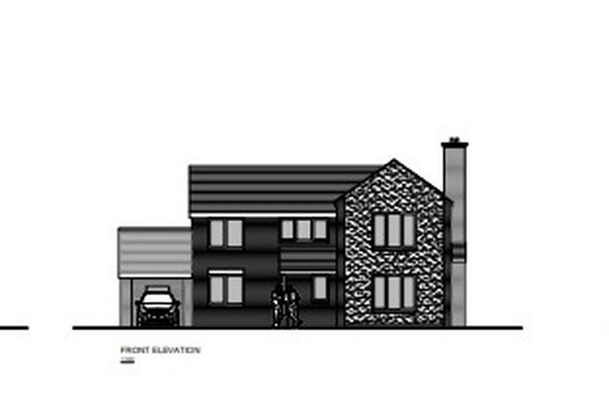A design of the affordable home earmarked for Derwen on Talerddig Road, Llanerfyl.