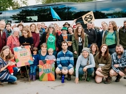 Hundreds of Shropshire campaigners join up with Extinction Rebellion protestors from across the country
