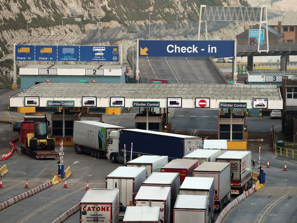 Thousands of lorries were backed up in Kent in the days before Christmas