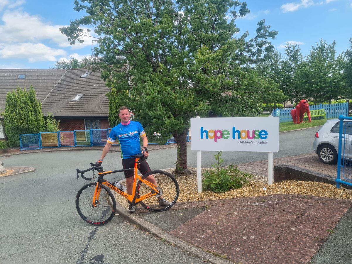 Kenny Hamer is cycling to raise money for seriously ill children