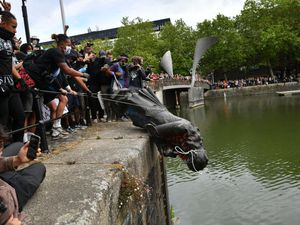 A statue of Edward Colston was dumped into Bristol harbour during a Black Lives Matter protest rally
