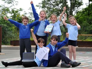 Carreghofa Primary School pupils are celebrating being rated 'good' by inspectors