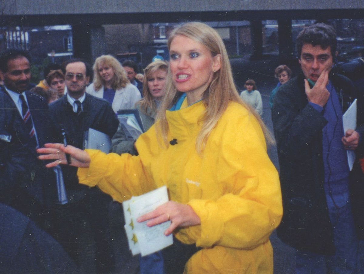 Anneka Rice helped the Stay charity renovate a former chapel in 1990