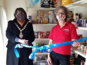 Mayor Councillor Jane Narborogh and Pippa Boss chief officer of The Arches