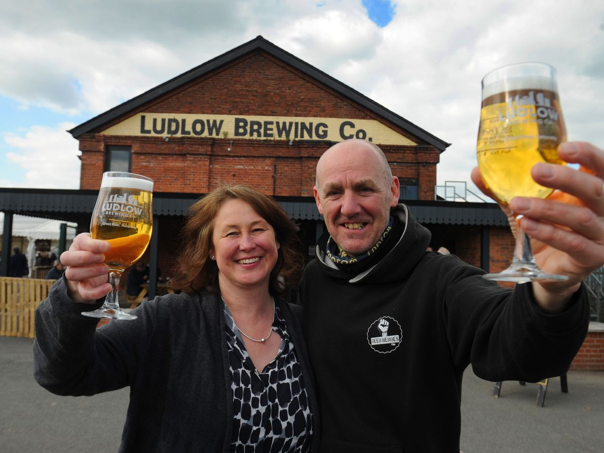 Founders of The Ludlow Brewing Company, Gary and Alison Walters, are celebrating reaching the 10-year milestone