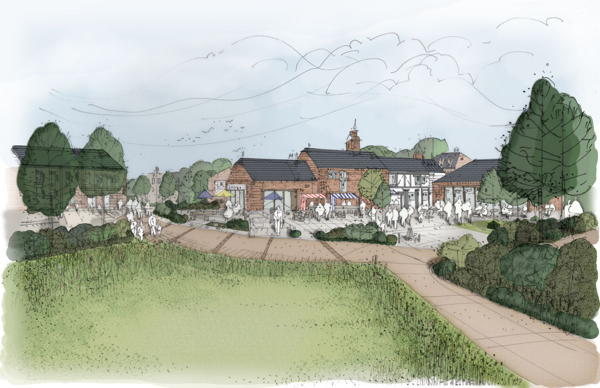 An artist's impression of how the development could look as part of Bradford Estates' plans for land near Tong and off Junction 3