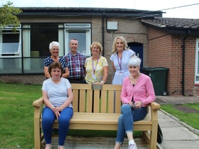Bench gift pays tribute to Mary's love of life