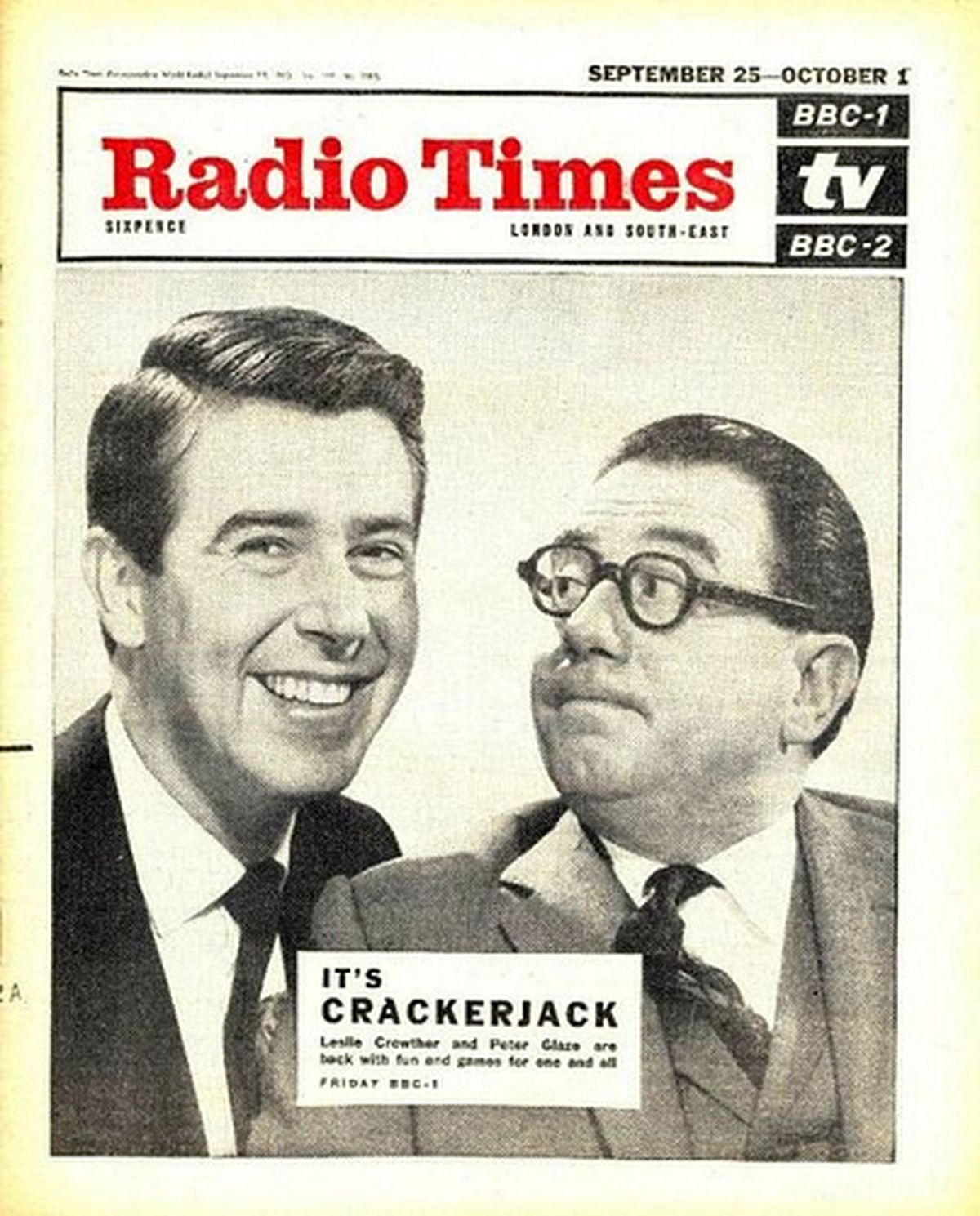 Leslie Crowther and Peter Glaze made the front cover of Radio Times