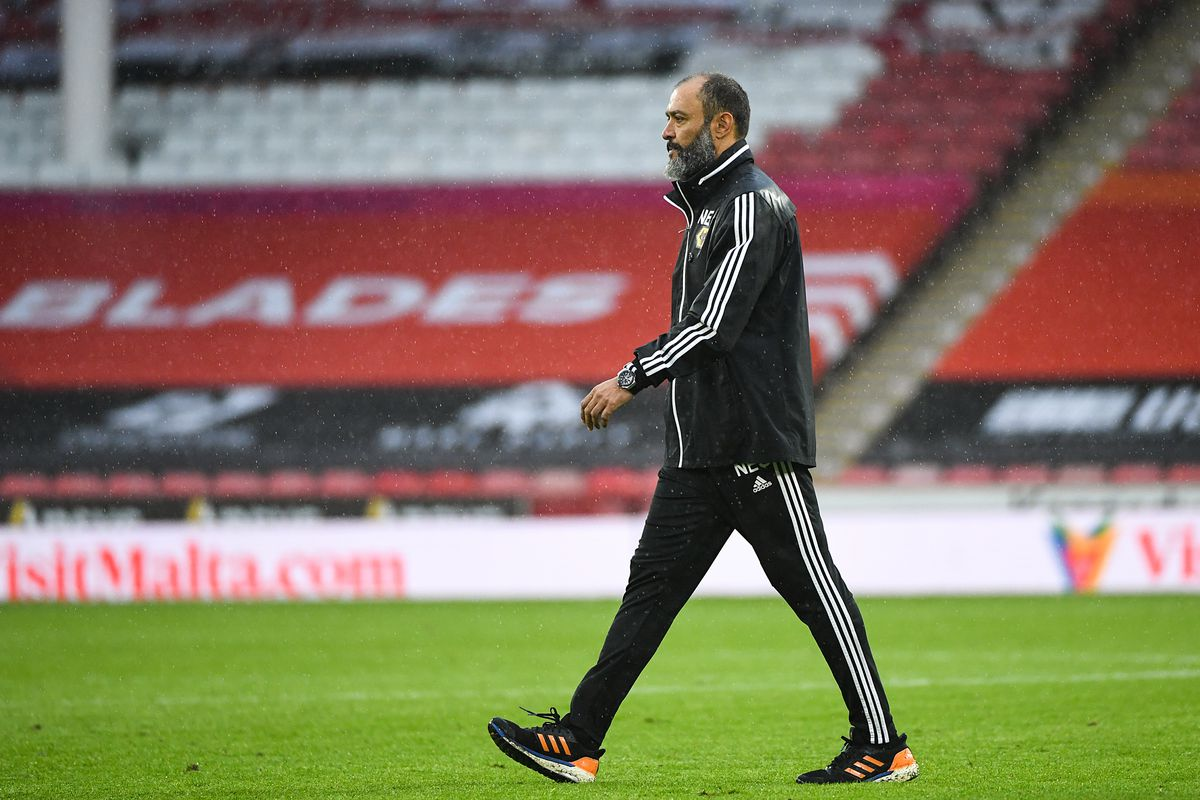 A dejected Nuno Espirito Santo the head coach / manager of Wolverhampton Wanderers at full time (AMA)