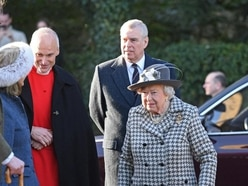 Queen joined by Andrew at church as Harry and Meghan step back from royal life