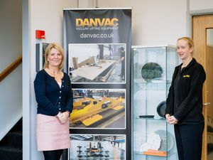 SHREWS COPYRIGHT SHROPSHIRE STAR JAMIE RICKETTS 13/10/2020 - Ladder for Shropshie campaign. In Picture: Danvac - Michaela Wheeler and Vikki Cliffe. Danvac are one of the first businesses to sign up to the Ladder campaign..