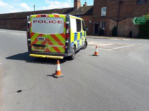 Police at the scene. Photo: Market Drayton Fire Station