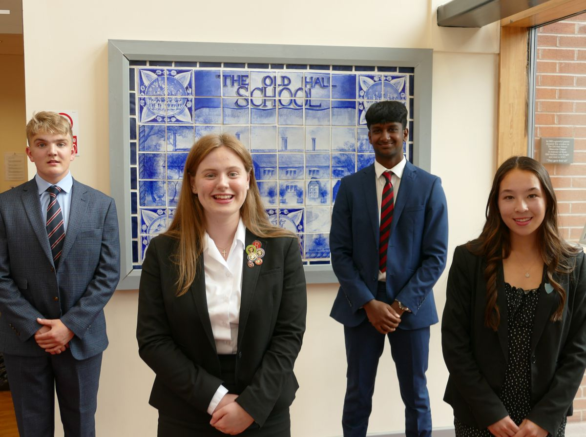 The four former Old Hall School pupils are now head boys or girls