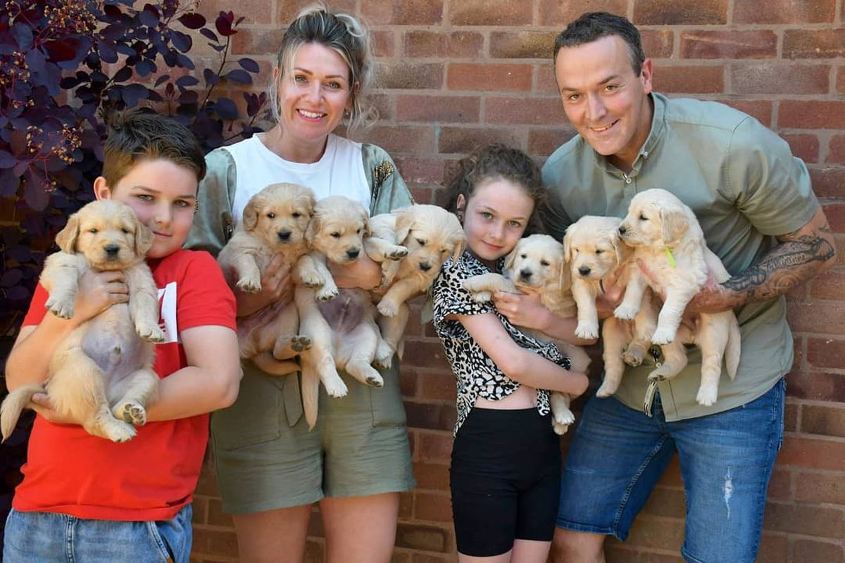 Photo: Lucy Poole             Katy McGregor and family, in Madeley