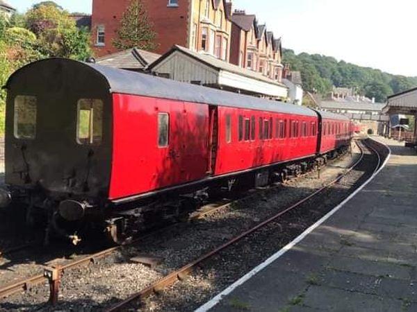 Suburban coaches on the Llangollen Railway