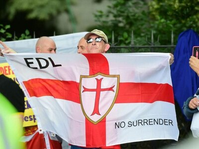 English Defence League march through Manchester