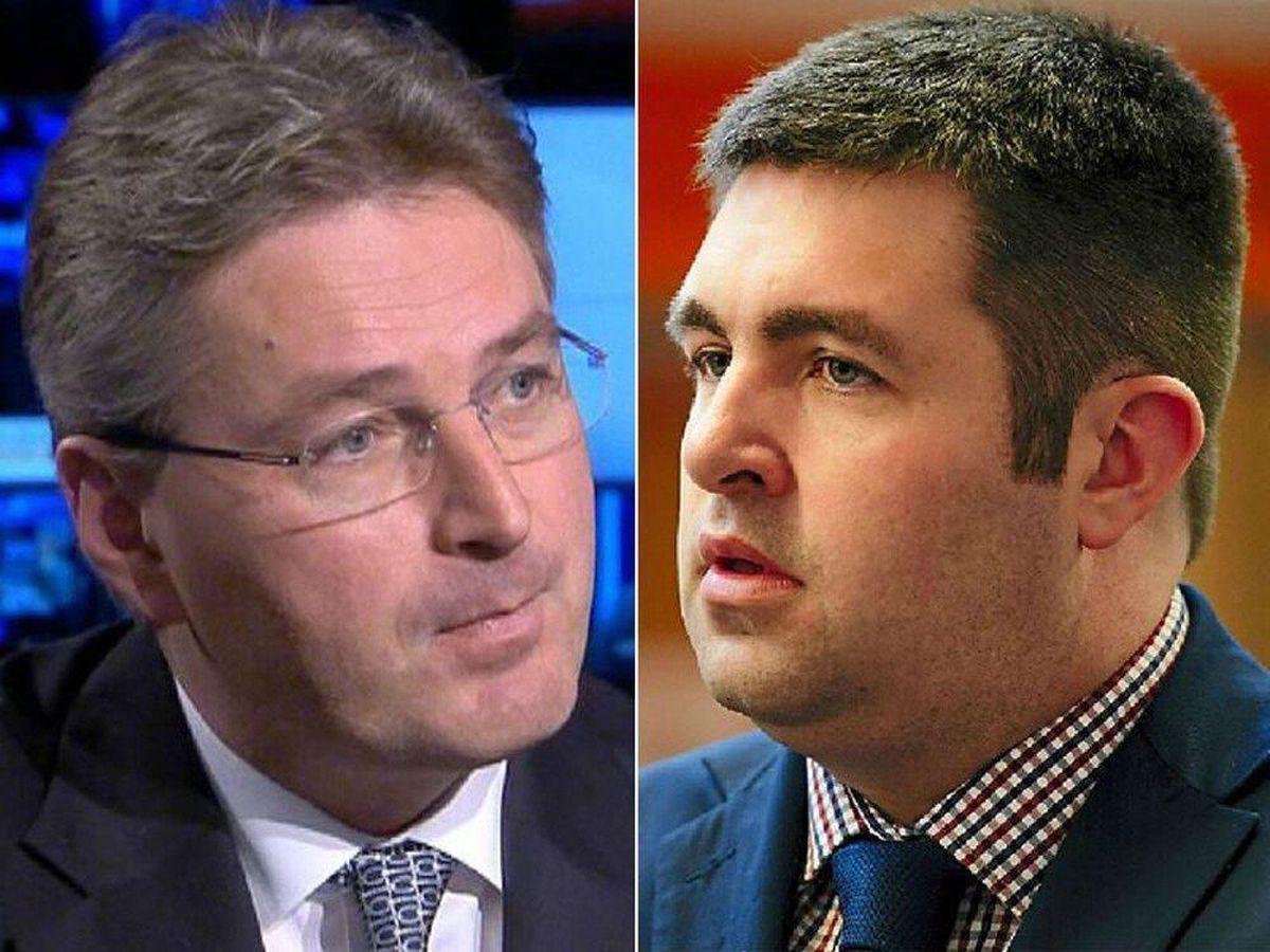 Daniel Kawczynski MP, left, and Councillor Shaun Davies