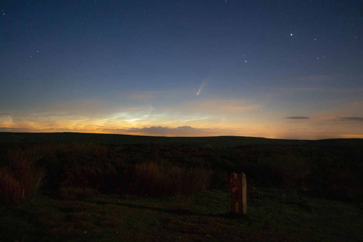 Comet Neowise and noctilucent clouds. Picture: @SDBPhotography__