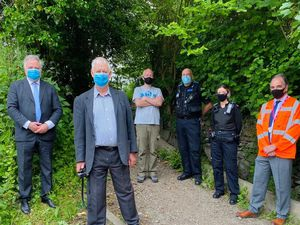 Some of those attending the meeting to discuss off-roading in the Ceiriog Valley