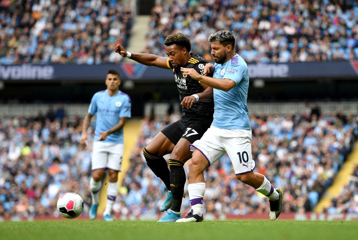 Adama Traore of Wolverhampton Wanderers and Sergio Aguero of Manchester City (AMA)