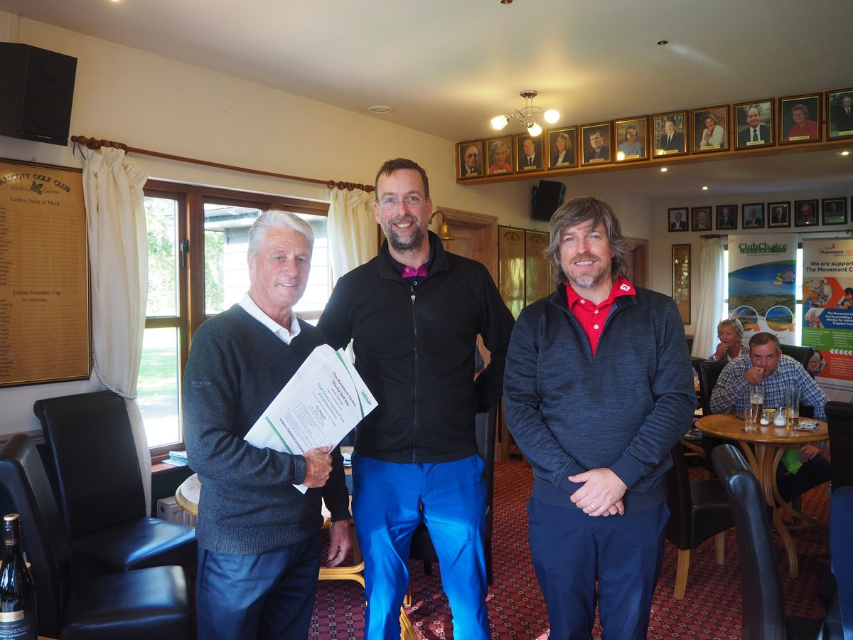Larry Byrne of Club Choice Ireland with winners Jonathan Pierce and Robert Williams from HarrisonsSolicitors.