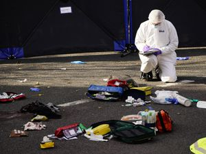 A forensic officer at Regency Court in Brentwood, Essex (Aaron Chown/PA)