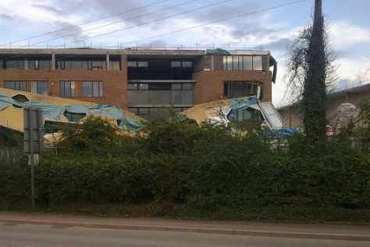 Fresh plans after canopy collapse at £35m school