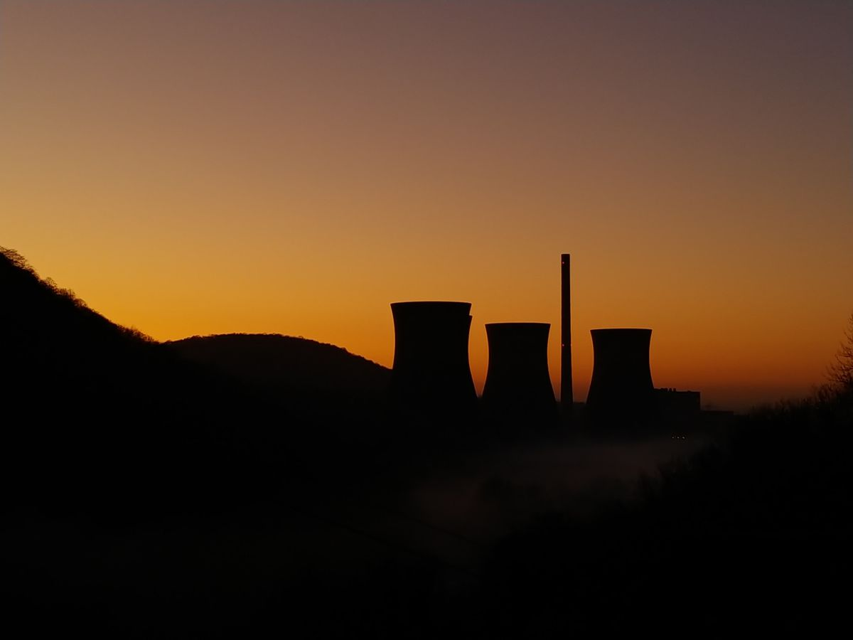 The cooling towers in sihouette. Photo: Jae Veal.