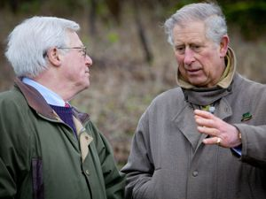 The Prince of Wales with Countryfile presenter John Craven
