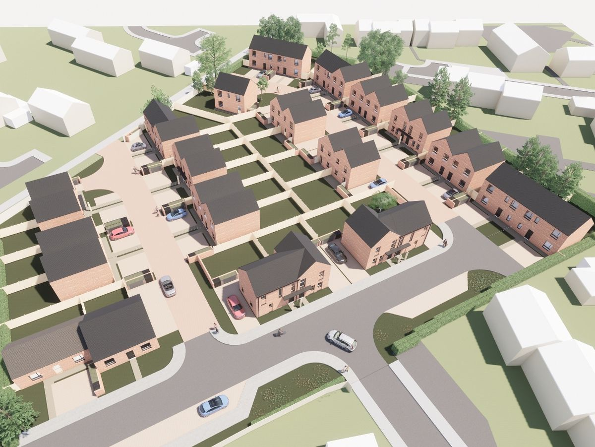 Computer generated images show how the Frith Close development could look
