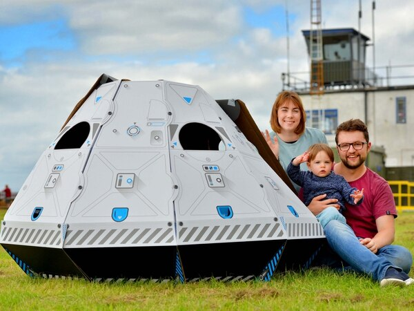 Moon landing's 50th anniversary celebrated at Shropshire airfield with NASA blessing - in pictures