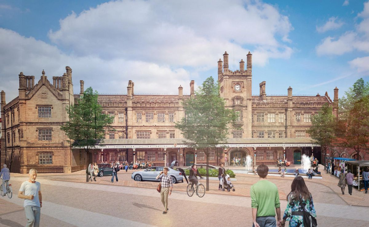 The reimagined frontage of Shrewsbury train station. Picture: LDA Design