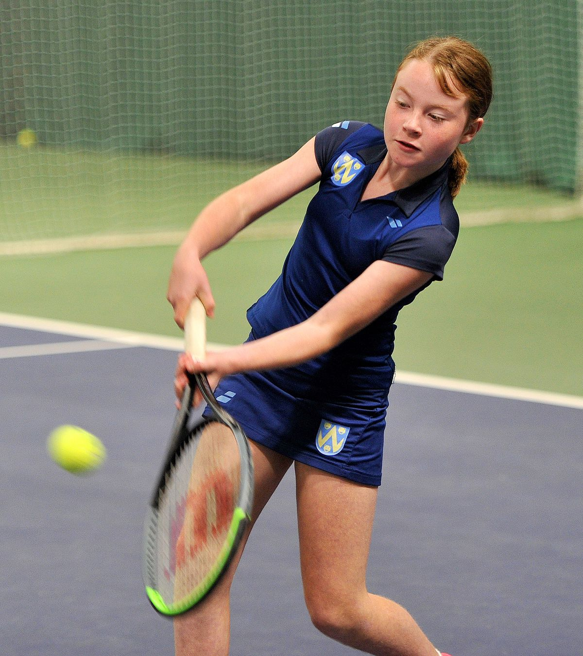 Ten-year-old Maddie Crabb in action at The Shrewsbury Club