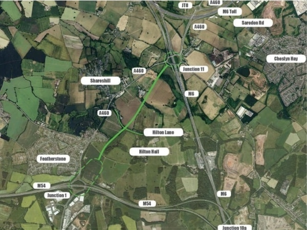 Changes made to M54 and M6 link road plan to ease concerns