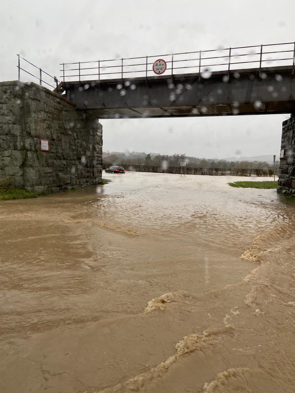 The railway bridge at Caerhowel. Photo: Matthew Livermore.